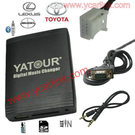 Soket Aux In Hu Toyota yatour toyota lexus scion digital usb sd aux mp3 bluetooth interface adapter cd changer emulator