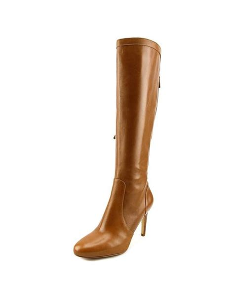 Sandal Gdns Hold Brown nine west hold tight toe leather brown knee high boot in brown save 7 lyst