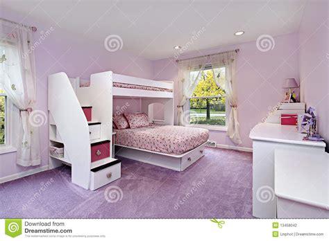 girls room  bunk bed stock photo image  carpet