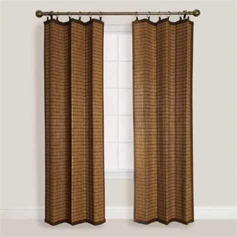 best curtains in the world natural colonial bamboo ring top curtain world market