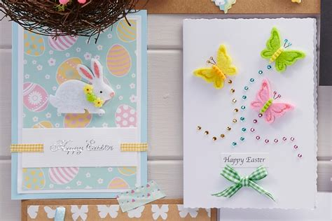 make a easter card 4 easy easter cards to make hobbycraft