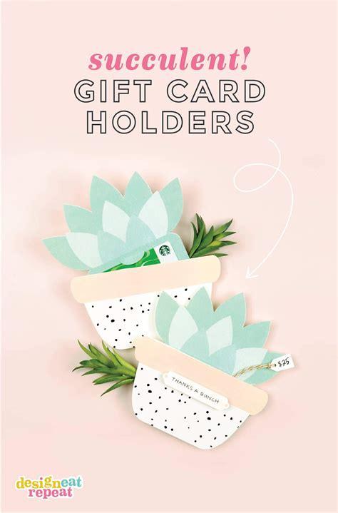 gift card holder template illustrator succulent printable gift card holder design eat repeat