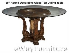 60 quot decorative glass top dining table ai61 rdt