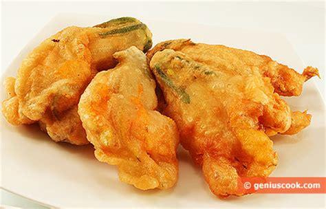 Pastella Fry Pan fried pumpkin flowers italian food recipes genius cook