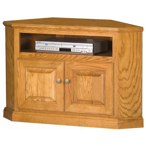 Oak Tv Cabinet With Doors Classic Oak 41 Quot Corner Tv Cabinet 1 Shelf 2 Doors Dcg Stores