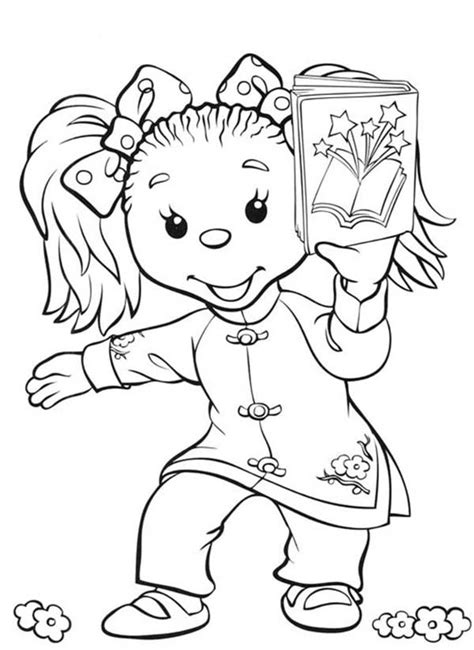 rupert bear coloring pages ping pong and her book in rupert bear coloring pages