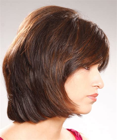 casual bob hairstyles medium straight casual bob hairstyle with side swept bangs