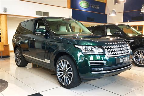 racing land rover land rover range rover autobiography british racing green