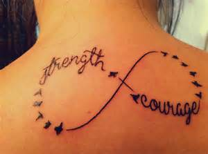 Tattoos With Infinity Signs And Words Strength And Courage Infinity