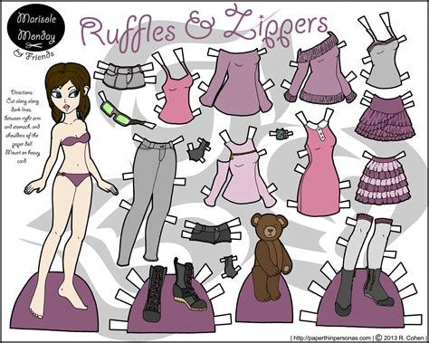 How To Make Paper Clothes For Dolls - other friends archives paper thin personas