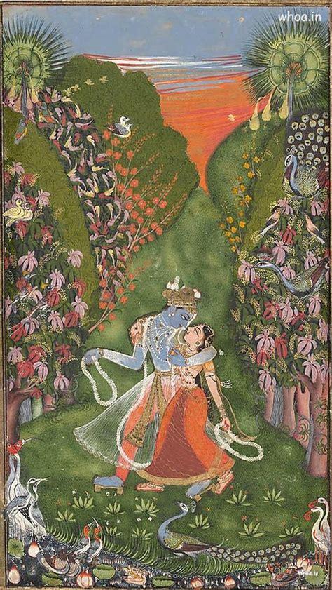 lord krishna  radha creative art nature painting
