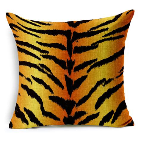 Patio Cushions Tiger Animal Cushion Cover Zebra Leopard Tiger Giraffe For