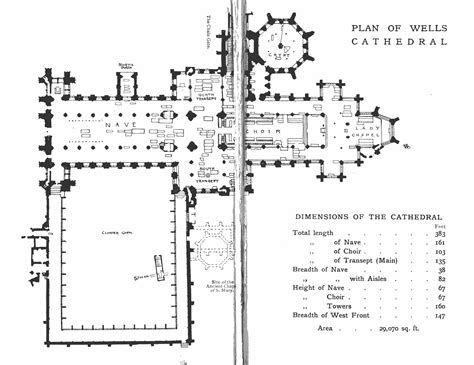 latin cross floor plan bell s cathedrals wells by the rev percy dearmer m a
