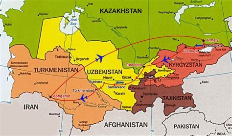 tashkent on world map combined central asian tour great cities of the central