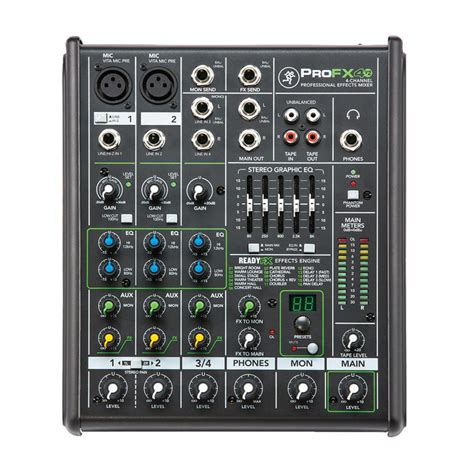 Mixer Mackie 6 Channel mackie profx4v2 4 channel professional effects mixer at gear4music