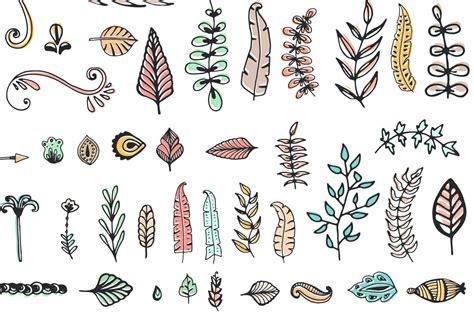 doodle element 56 doodle decoration elements by favete