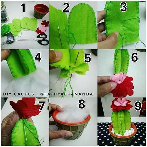 cara membuat kerajinan tangan merajut 5 cara membuat hiasan berbentuk kaktus dari flanel dll