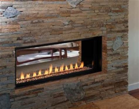 see through linear gas fireplace venice lights linear