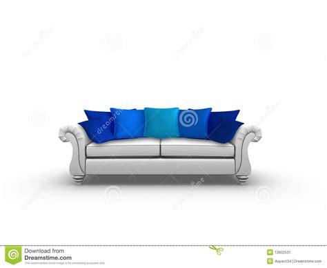 coussins bleus coussins bleus image stock image 12602531