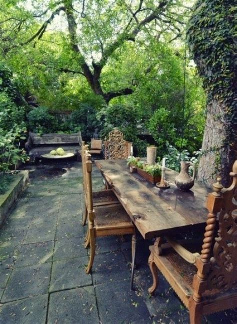 rustic backyard designs 57 cozy rustic patio designs digsdigs