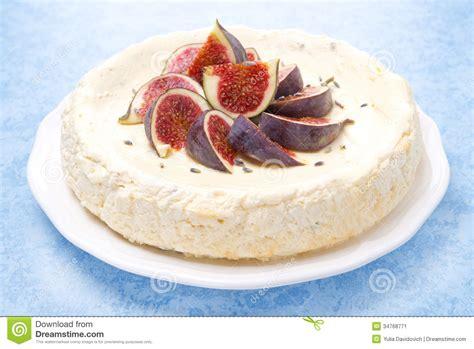 fresco decorados bolo de queijo o mel e a alfazema decorados figos