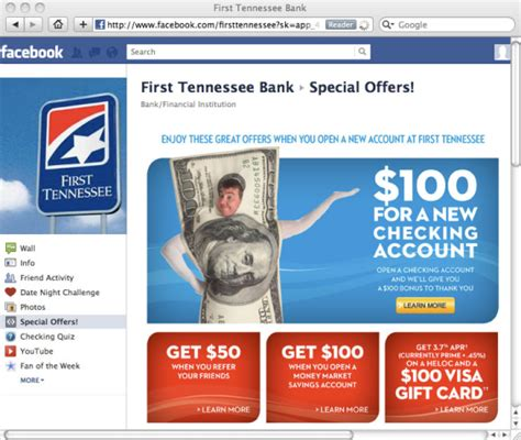 First Tennessee Visa Gift Card - how can financial institutions get the most out of facebook