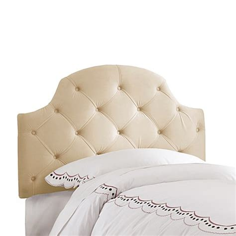 skyline velvet tufted headboard skyline low arc tufted velvet headboard in buckwheat bed