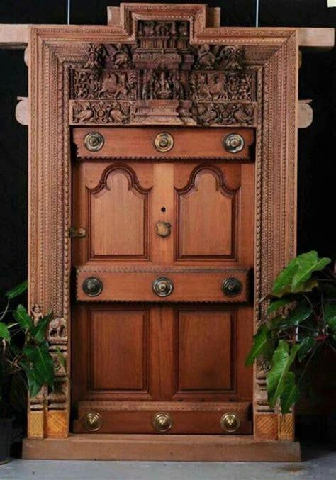 pin  bhuvana senthil  houses traditional front doors