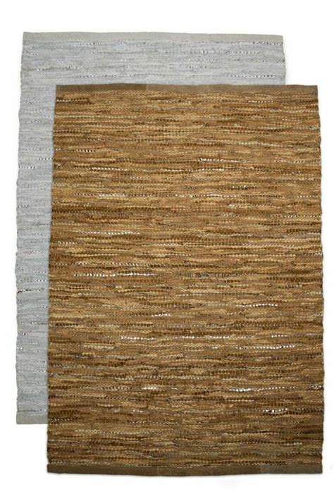 Woven Leather Rug by Hacienda Collection Woven Leather Rug From By Hacienda Shoptiques