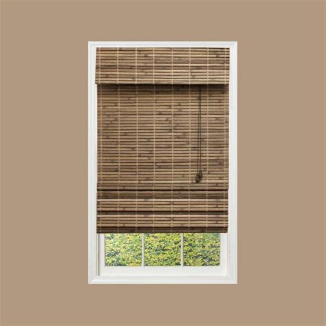 home l shades home decorators collection driftwood flatweave bamboo
