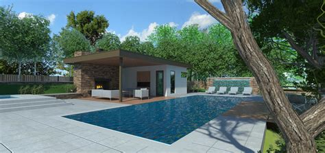 Pool House Design by Pool House Line 8 Design