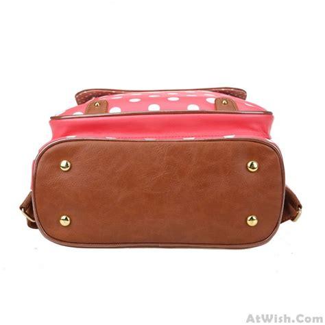 Pretty College Polka Dot PU  Bag Travel Backpack   Fashion Backpacks   Fashion Bags