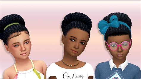 sims 4 bun braids my sims 4 blog braided bun hair converted for girls by