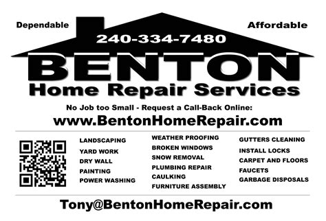 services benton home repair services