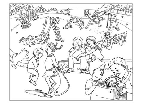 playground coloring pages playground coloring book pages