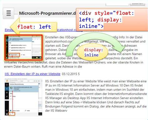 div style float left html display inline float left codedocu de net framework