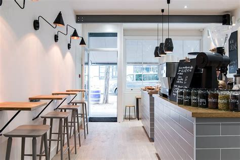Contemporary Kitchen Interiors by Kin Caf 233 Bright Amp Breezy Coffee Amp Cake Shop In Fitzrovia