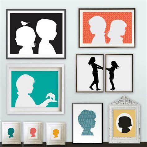 cuadros originales para decorar ideas originales cuadros de siluetas decorar con fotos