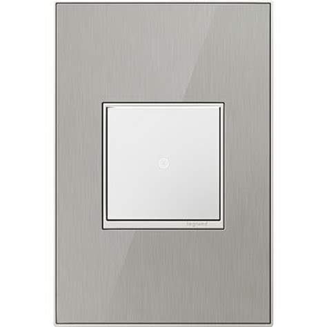 brushed nickel light switch covers legrand adorne brushed stainless 1 gang switch plate