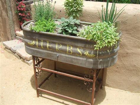 Planter Troughs by Galvanised Trough Herb Planter Gardening