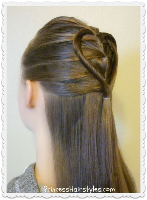 simple hairstyles with one elastic cool hair style elastic braid twist heart hairstyle