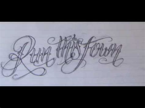 tattoo fonts youtube new lettering