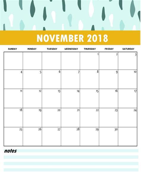 Cute Free Monthly Printable Calendar 2018 Calendar 2018 Printable Calendar Template 2018
