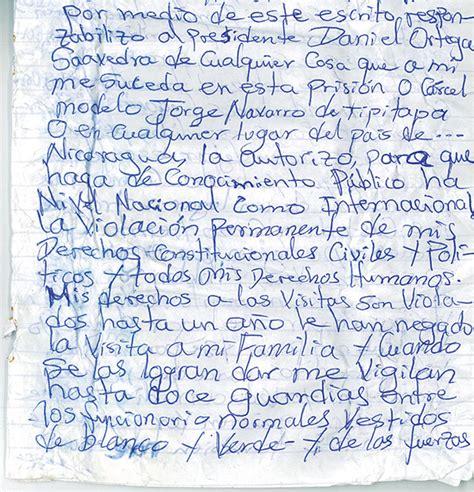 carta a un hermano que esta triste denuncian que daniel ortega tuvo relaciones con una menor