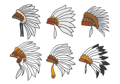 indian headdress vector download free vector art stock