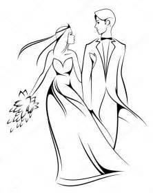 Bride And Groom Card Nevěsta A ženich Stock Vektor 169 Seamartini 3665883