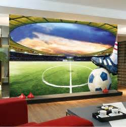 soccer wall murals aliexpress com buy football stadium wall mural customize