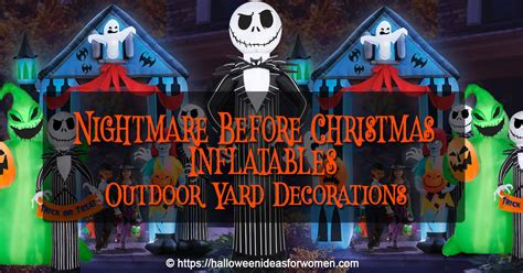 nightmare  christmas inflatables halloween ideas
