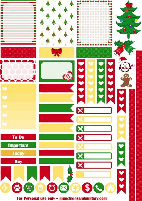 printable planner holiday stickers christmas planner stickers munchkins and the military