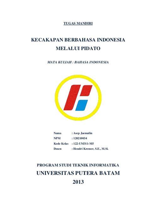 tugas mandiri bahasa indonesia